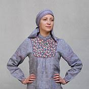 Одежда ручной работы. Ярмарка Мастеров - ручная работа Блуза льняная в русском стиле. Handmade.
