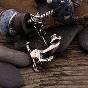 """Украшения ручной работы. Ярмарка Мастеров - ручная работа """"Здесь обитает счастье"""" серебряная бусина для браслетов. Handmade."""