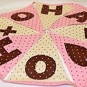 Для дома и интерьера ручной работы. Ярмарка Мастеров - ручная работа Он+она, текстильная гирлянда. Handmade.