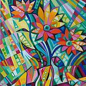 Картины и панно handmade. Livemaster - original item Each flower — he`s got a smart II. Handmade.