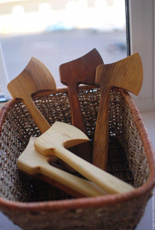 Детская ручной работы. Ярмарка Мастеров - ручная работа. Купить Топорик деревянный. Handmade. Коричневый, игрушка для мальчика, топорище