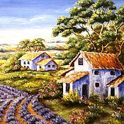 """Картины и панно ручной работы. Ярмарка Мастеров - ручная работа """"Лавандовый прованс"""" картина. Handmade."""