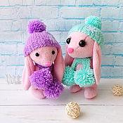 Куклы и игрушки handmade. Livemaster - original item A charming pair of hares. Mom and daughter.. Handmade.