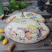 """Для дома и интерьера ручной работы. Ярмарка Мастеров - ручная работа """"Сырное ассорти"""" доски сырные. Handmade."""