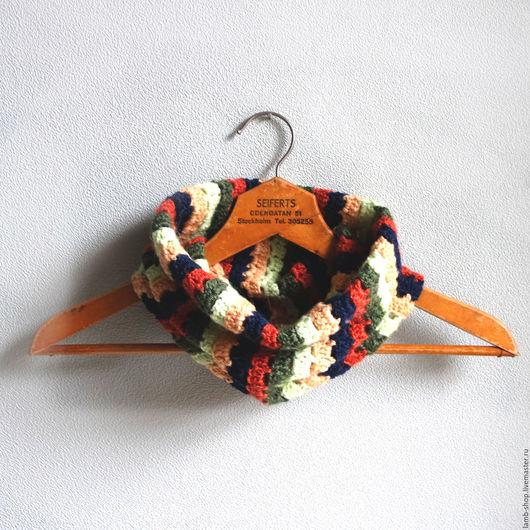 Шарфы и шарфики ручной работы. Ярмарка Мастеров - ручная работа. Купить Снуд Полосатое счастье. Handmade. Комбинированный