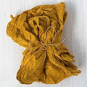 Ткани ручной работы. Ярмарка Мастеров - ручная работа Шелковые платочки 10 гр  шафран. Handmade.