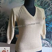 Одежда handmade. Livemaster - original item Crocheted summer pullover