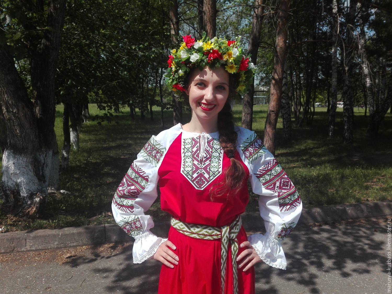 Концертная рубаха, сценический костюм с оригинальной вышивкой.