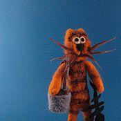 Куклы и игрушки ручной работы. Ярмарка Мастеров - ручная работа Кот в кошачьем стиле... с рыбкой. Handmade.