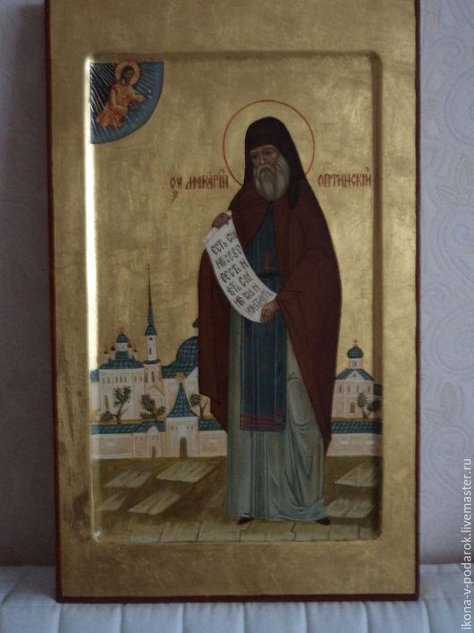 мерная икона (именная). Св. Макарий Оптинский. Мерные иконы на заказ.