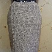 Одежда ручной работы. Ярмарка Мастеров - ручная работа Юбка вязаная с косами. Handmade.