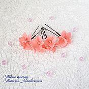 Украшения handmade. Livemaster - original item Hydrangea hairpin (any color). Stud with flowers.. Handmade.