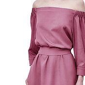 Одежда handmade. Livemaster - original item Delicate dress with open shoulders. Handmade.