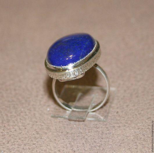 Кольца ручной работы. Ярмарка Мастеров - ручная работа. Купить Кольцо с лазуритом. Handmade. Комбинированный, кольцо с камнем
