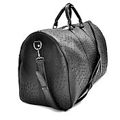 Сумки и аксессуары handmade. Livemaster - original item Travel/sports bag, made of genuine ostrich leather!. Handmade.