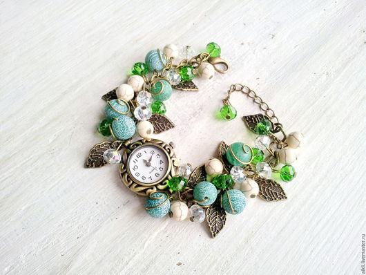 """Часы ручной работы. Ярмарка Мастеров - ручная работа. Купить Часы ручной работы """"Блюз"""". Handmade. Зеленый, часы женские"""