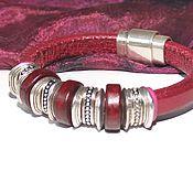 Украшения handmade. Livemaster - original item Bracelet Regaliz Cherry Metallic. Handmade.