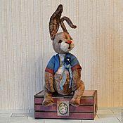 Куклы и игрушки ручной работы. Ярмарка Мастеров - ручная работа Тедди Кролик игрушка. Handmade.