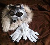 Работы для детей, ручной работы. Ярмарка Мастеров - ручная работа Маска волка, кошечки. Handmade.