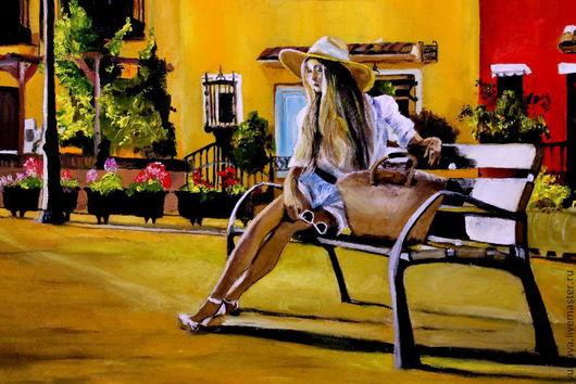 Город ручной работы. Ярмарка Мастеров - ручная работа. Купить картина маслом СОГРЕТАЯ СОЛНЦЕМ. Handmade. Желтый, прованс