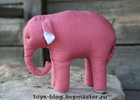 """Игрушки животные, ручной работы. Ярмарка Мастеров - ручная работа. Купить мягкая игрушка """"Розовый слон"""". Handmade. Слон"""