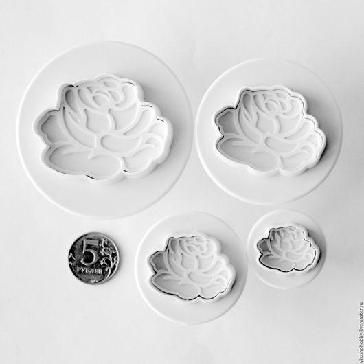 Другие виды рукоделия ручной работы. Ярмарка Мастеров - ручная работа. Купить Розы (набор 4 шт.). Плунжер, формочка. Handmade.