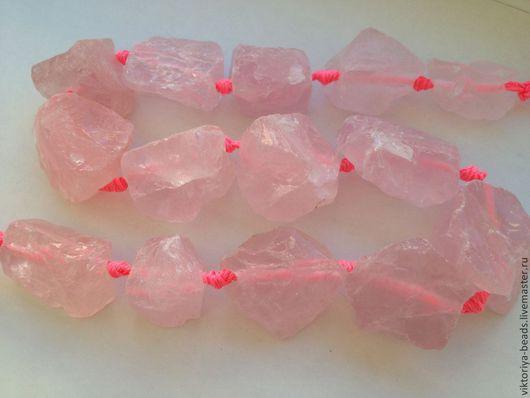 Для украшений ручной работы. Ярмарка Мастеров - ручная работа. Купить Кварц розовый необработанный бусины. Handmade. Кварц необработанный