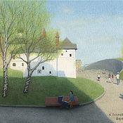 Картины и панно handmade. Livemaster - original item Reproductions of artists Moscow Zaryadye watercolor paintings. Handmade.