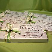 Свадебный салон ручной работы. Ярмарка Мастеров - ручная работа ( арт. 0001) Оформление свадебного шоколада. Handmade.