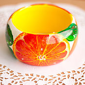 """Украшения ручной работы. Ярмарка Мастеров - ручная работа Браслет """"Сицилийские апельсины"""" :). Handmade."""