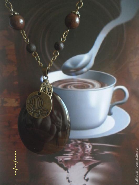 Колье, бусы ручной работы. Ярмарка Мастеров - ручная работа. Купить Сотуар Горький шоколад. Handmade. Коричневый, агат