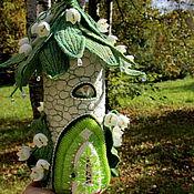 Для дома и интерьера ручной работы. Ярмарка Мастеров - ручная работа Светильник войлочный  Домик лесной феи сказочный домик. Handmade.