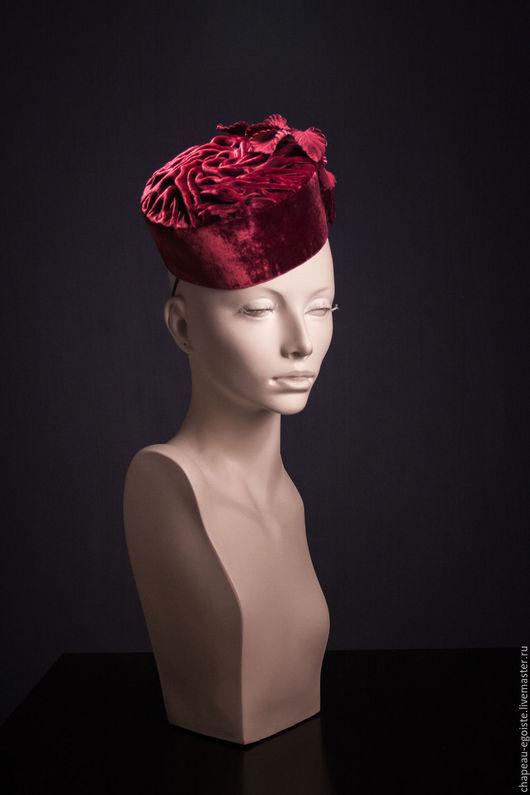 Шляпы ручной работы. Ярмарка Мастеров - ручная работа. Купить Шляпка-таблетка Rose. Handmade. Светлана гуляева, женская шляпка