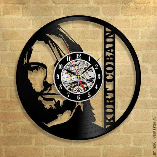 """Часы для дома ручной работы. Ярмарка Мастеров - ручная работа. Купить Часы из пластинки """"Nirvana"""". Handmade. Комбинированный, nirvana"""