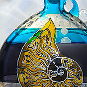 Посуда handmade. Livemaster - original item The bottle is free-blown (free-blowing) Sink, stained glass painting. Handmade.