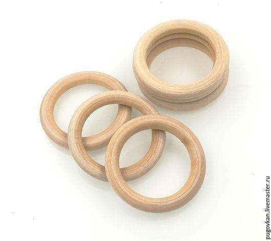 Для украшений ручной работы. Ярмарка Мастеров - ручная работа. Купить Кольцо деревянное 56 мм. Handmade. Деревянные бусины