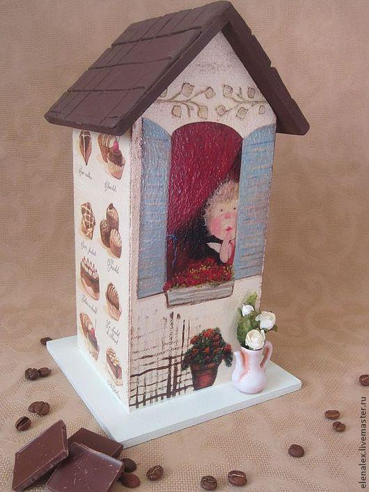 """Кухня ручной работы. Ярмарка Мастеров - ручная работа. Купить Чайный домик """"Мой ангел"""". Handmade. Чайный домик декупаж"""