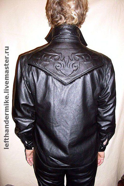 9a87f967ffd0118 Верхняя одежда ручной работы. Кожаная рубашка ЖЕНСКАЯ. Левша Миша  (lefthandermike). Интернет