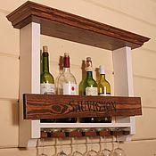 Для дома и интерьера ручной работы. Ярмарка Мастеров - ручная работа Полка, бар для вина. Handmade.