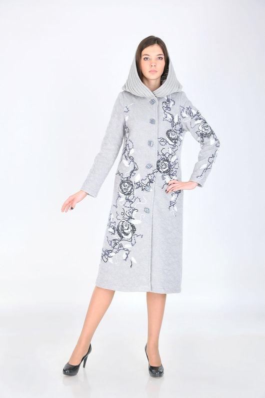 Верхняя одежда ручной работы. Ярмарка Мастеров - ручная работа. Купить Пальто П 57. Handmade. Серый, пальто женское