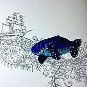 Украшения ручной работы. Ярмарка Мастеров - ручная работа Брошь Сказочный кит. Handmade.