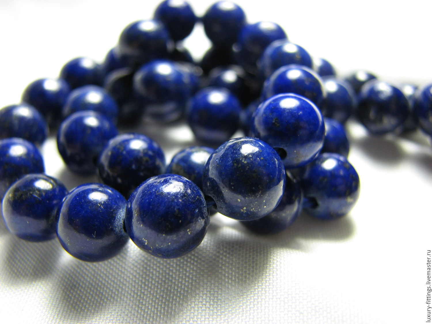 Lapis lazuli with pyrite 8mm smooth ball, natural, beads, Beads1, Moscow,  Фото №1