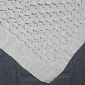 Для дома и интерьера ручной работы. Ярмарка Мастеров - ручная работа Покрывало вязаное белого цвета. Handmade.