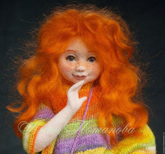 Коллекционные куклы ручной работы. Ярмарка Мастеров - ручная работа. Купить Авторская войлочная кукла Женька. Handmade. Рыжий, озорная