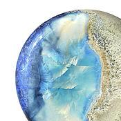"Украшения handmade. Livemaster - original item Porcelain brooch ""Water and sand"". Handmade."