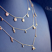 Украшения handmade. Livemaster - original item Set of with pendant, necklace and earrings gold plated