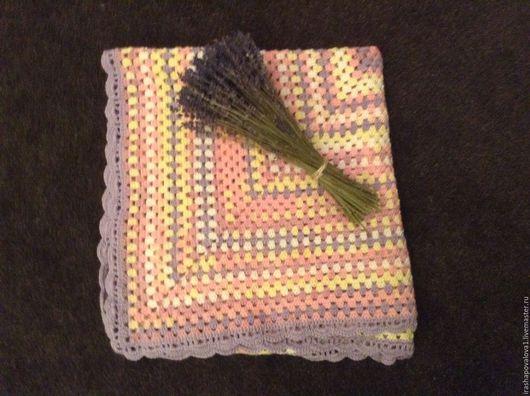 Пледы и одеяла ручной работы. Ярмарка Мастеров - ручная работа. Купить Плед Лаванда. Handmade. Комбинированный
