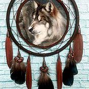 """Ловец снов ручной работы. Ярмарка Мастеров - ручная работа Ловец снов """"Волк"""". Handmade."""