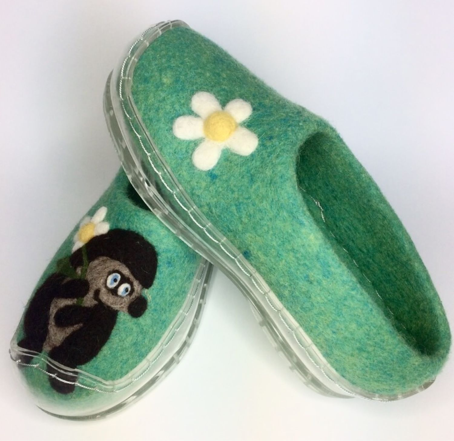 Felted Slippers with silicone soles, Slippers, Ramenskoye,  Фото №1