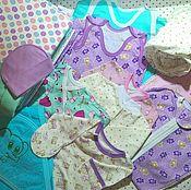 Комплекты одежды ручной работы. Ярмарка Мастеров - ручная работа Комплект вещей для новорожденного на выписку, на рождение. Handmade.